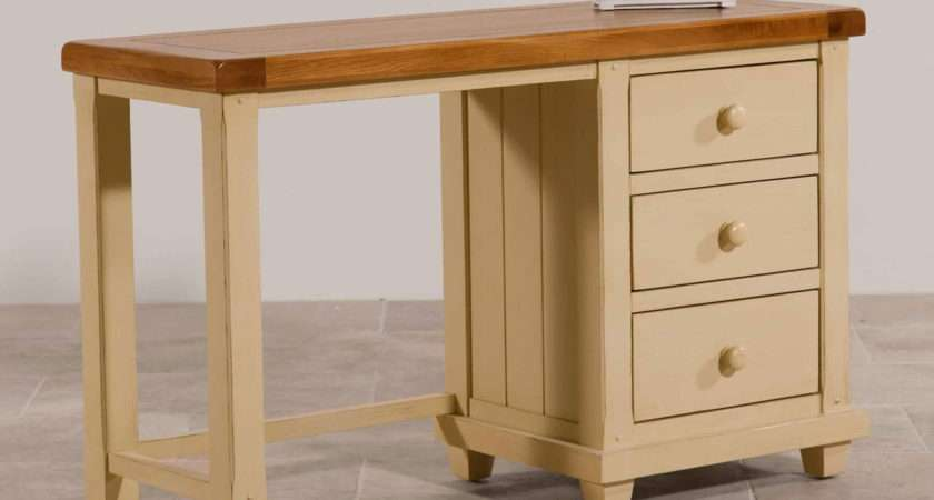 Phoenix Shabby Chic Rustic Oak Painted Dressing Table
