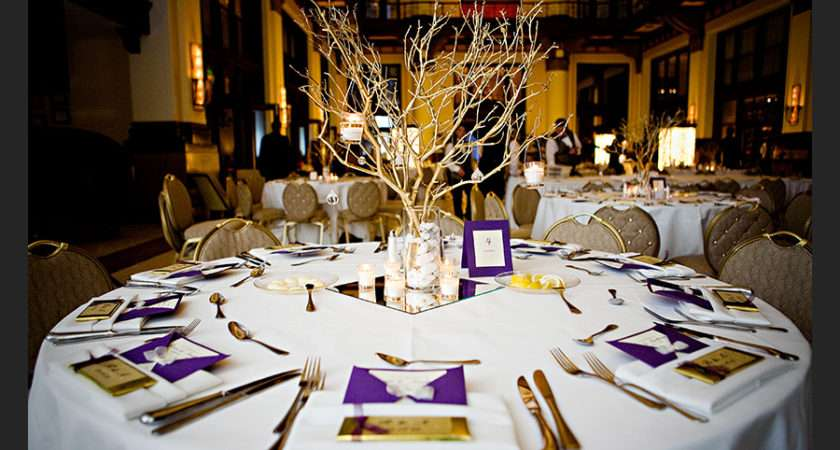 Pics Photos Purple White Wedding Tables Settings