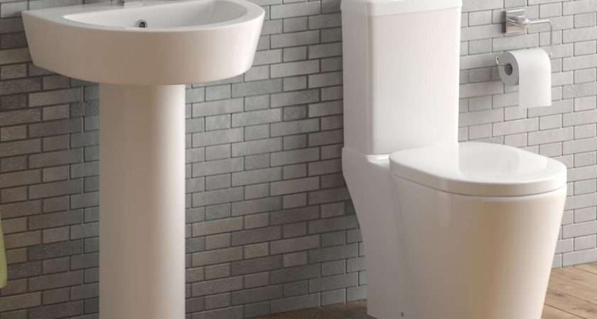 Piece Toilet Basin Set Unit Ceramic Sink Pedestal