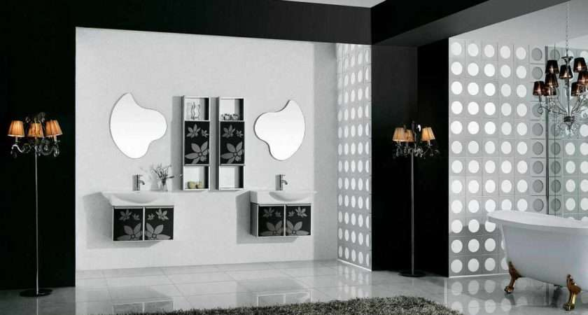 Pin Black White Luxury Bathroom Design Rectangular Frameless Wall