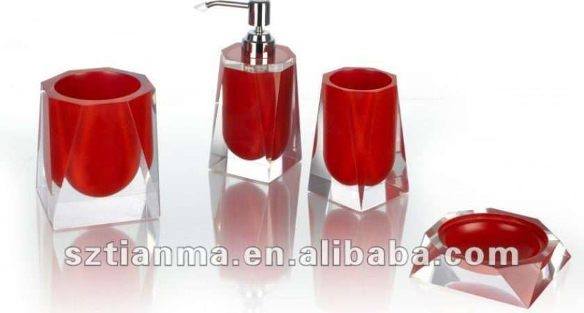 Pink Bathroom Accessories Sets Hot Resin