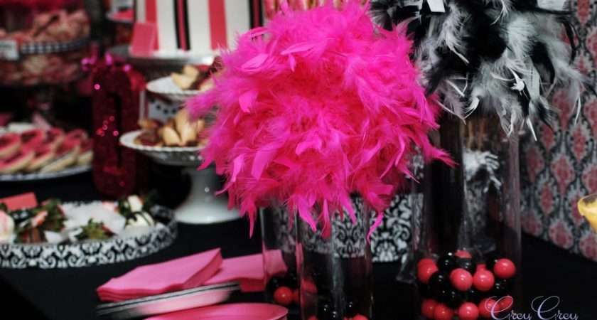 Pink Black Party Decorations