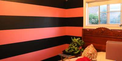 Pink Black Striped Room Pixshark