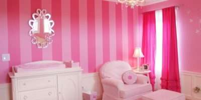 Pink Drapes Traditional Nursery