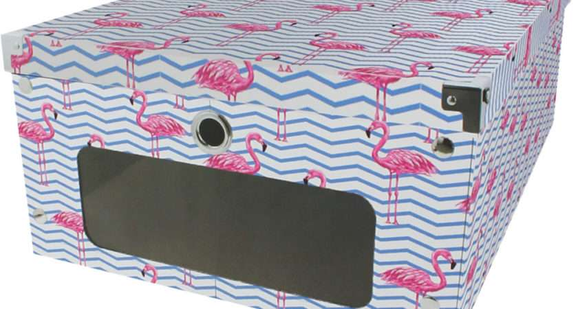 Pink Flamingo Under Bed Storage Box Boxes