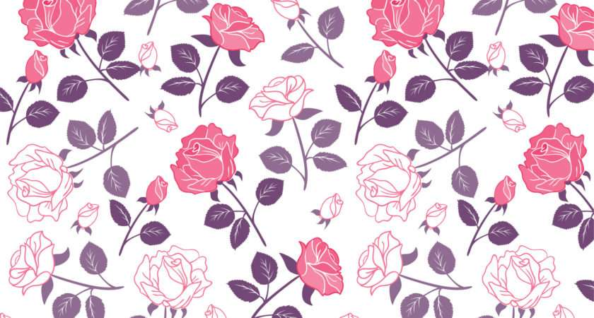 Pink Floral Patterns Photoshop Freecreatives