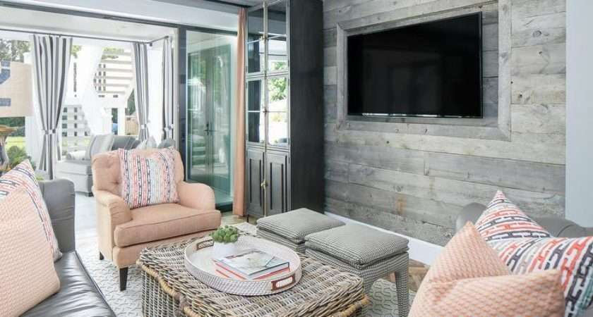 Pink Gray Living Room Niche Cottage