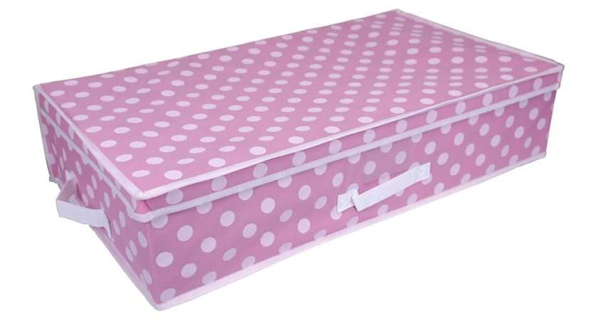 Pink Polka Dot Storage Boxes