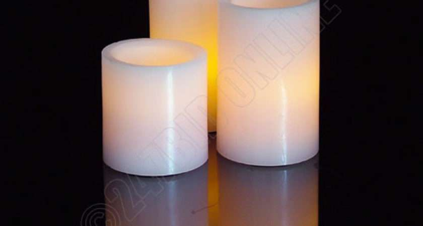 Pink Real Wax Flameless Led Mood Candles Flickering
