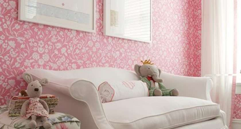 Pink Shabby Chic Kids Room Transitional Girl