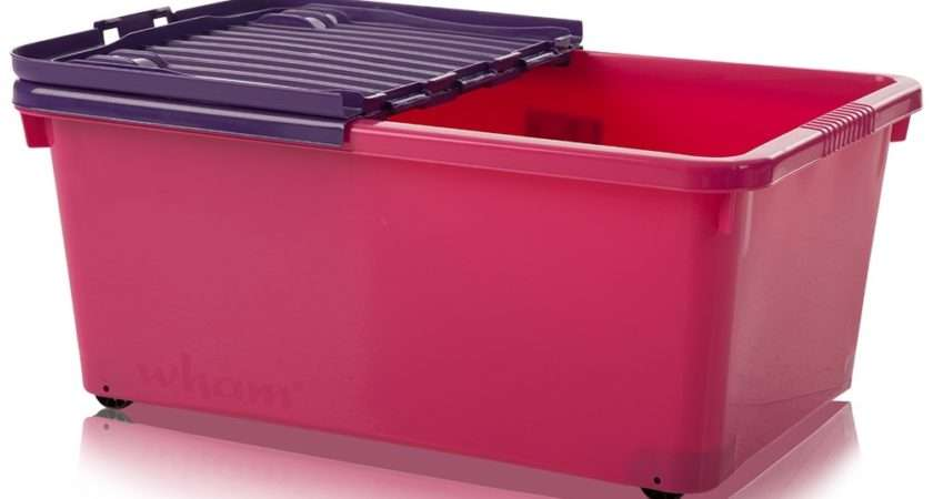 Pink Underbed Storage Boxes Pack Plastic Box Shop
