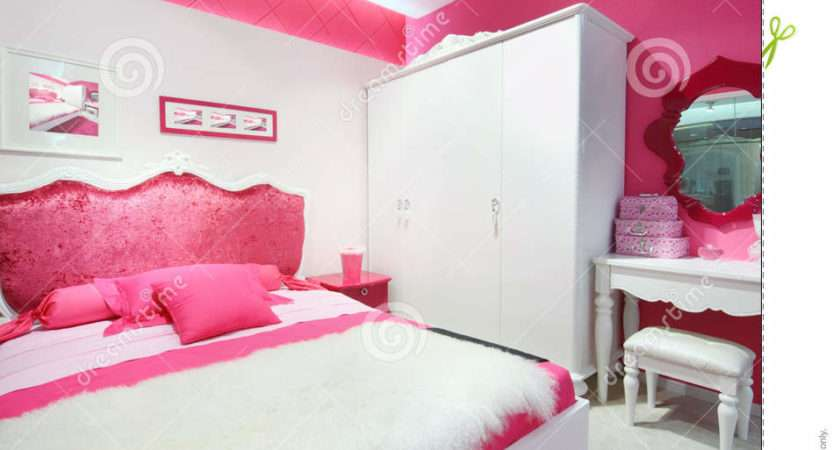 Pink White Beautiful Bedroom