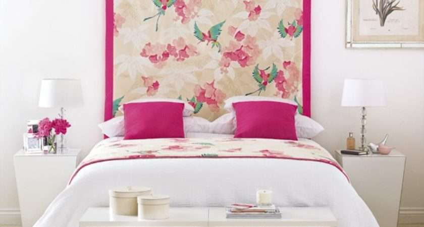 Pink White Bedroom Decorating Ideas Wall Hanging