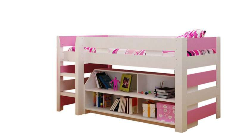 Pink White Lollipop Cabin Bed Sleep Station Mid Midi