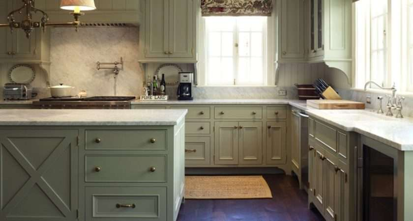 Pinterest Green Kitchen Country Kitchens Cabinets