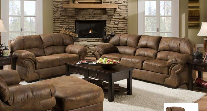 Pinto Tobacco Casual Living Room Furniture Set Simmons