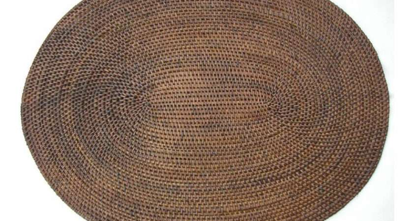 Placemats Natural Seagrass Oval Shape