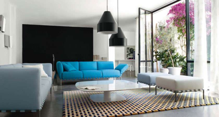 Pop Out Color Sofa Modern Living Room Ideas Team