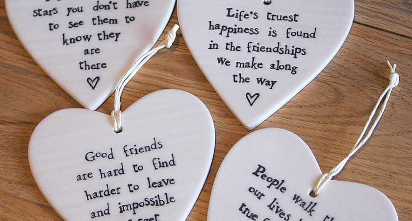 Porcelain Heart Hanging Decoration Alphabet Gift