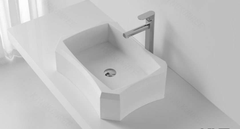 Portable Small Oval Countertop Basin Solid Surface Wash
