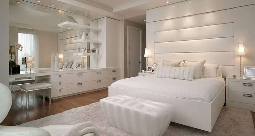 Posh All White Bedroom Design Idea