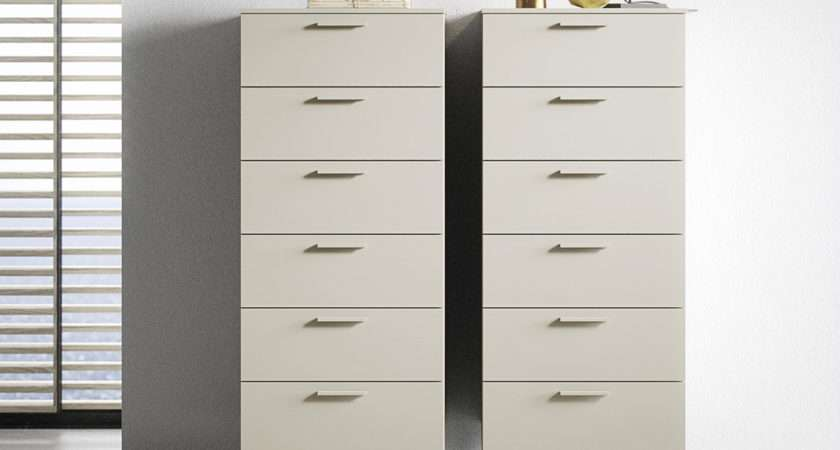 Praga Tall Chest Drawers Contemporary Bedroom