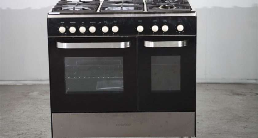 Preloved Kenwood Range Gas Cooker Black Silver Sale