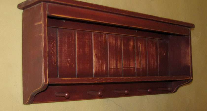 Primitive Plate Rack Wall Shelf Shaker Willowislandprim