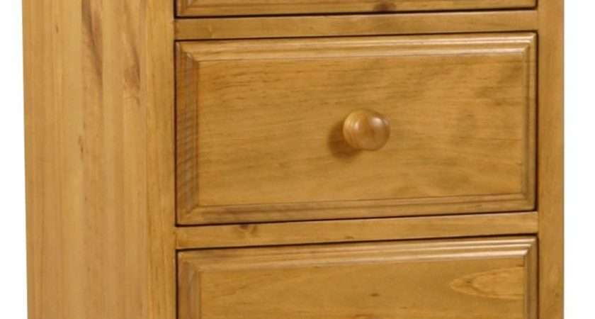 Primrose Solid Chunky Pine Bedroom Furniture Tallboy Chest