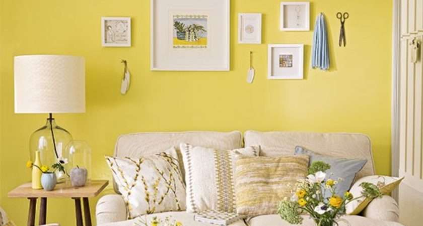 Primrose Yellow Living Room Pared Back Furniture