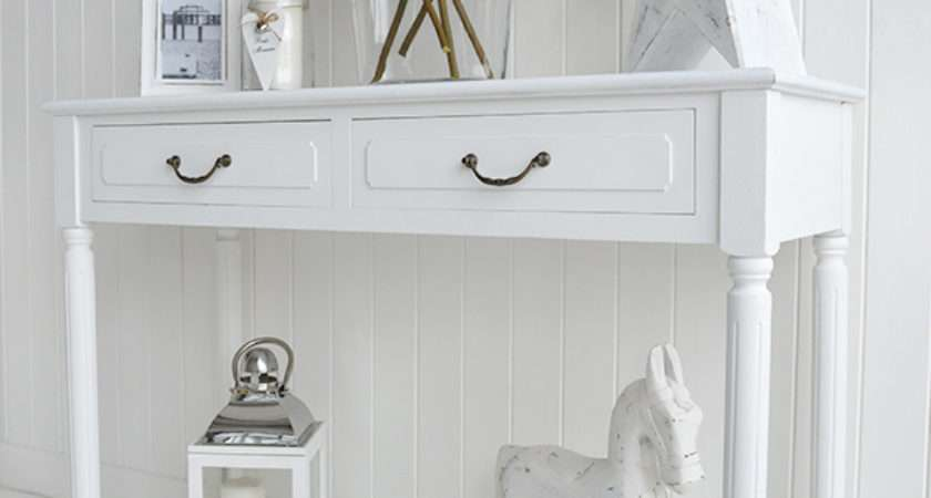 Provence White Console Table Hall Furniture Large