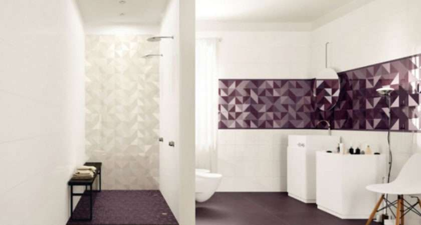 Purple Bathroom Floor Tiles Ideas