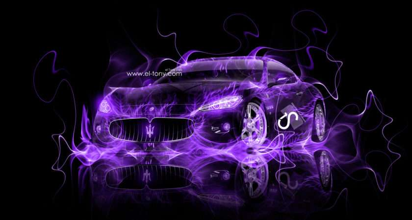 Purple Fire Maserati Grancabrio Side