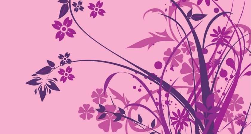 Purple Floral Patterns Freecreatives