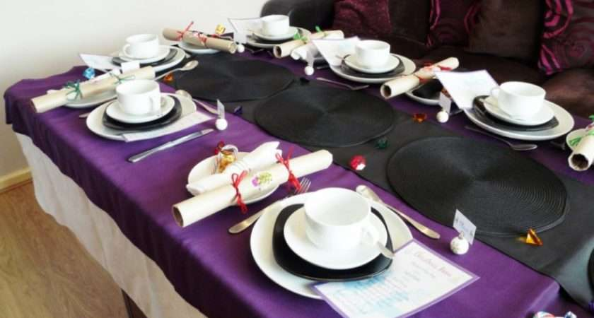 Purple One Finally Black Table Runner Mats