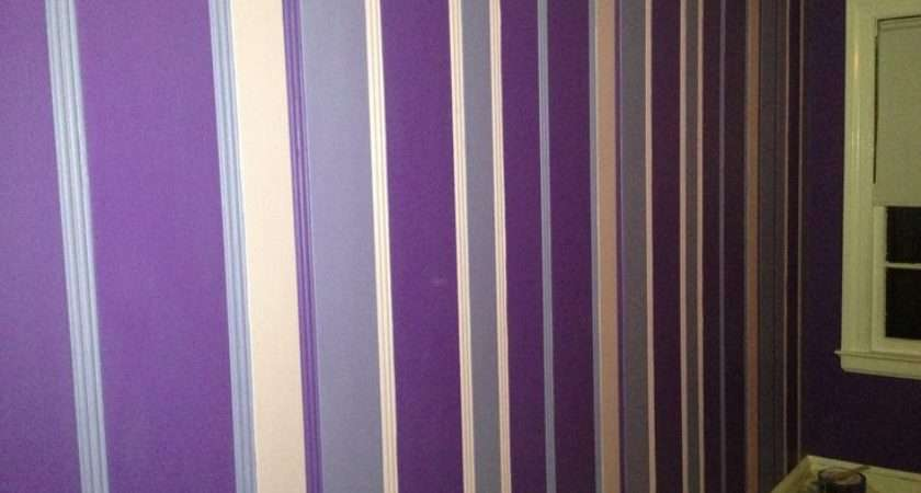 Purple Stripes Daughters Room Lacei Daughter Pinterest