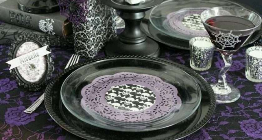 Purple Table Setting Sweet
