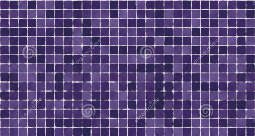 Purple Tiles Illustration Ceramic