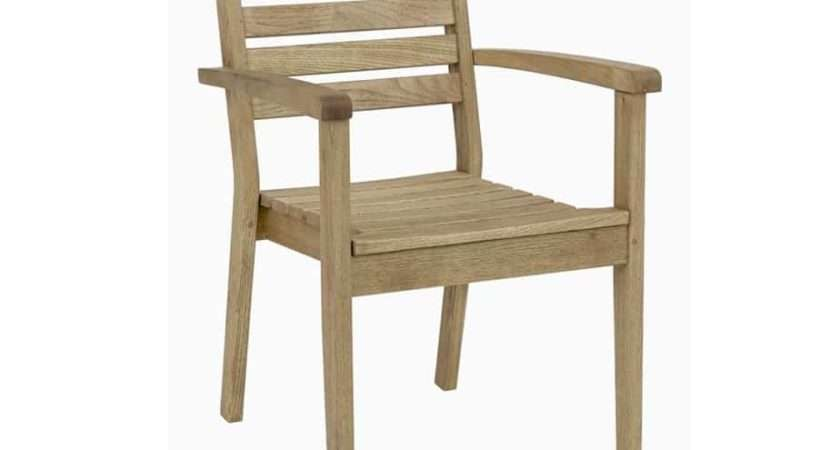 Quad Chunky Wooden Outdoor Armchairs Rustic Design