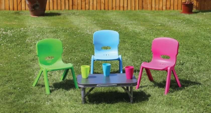 Quest Childrens Funky Chairs Stackable Assorted Colours