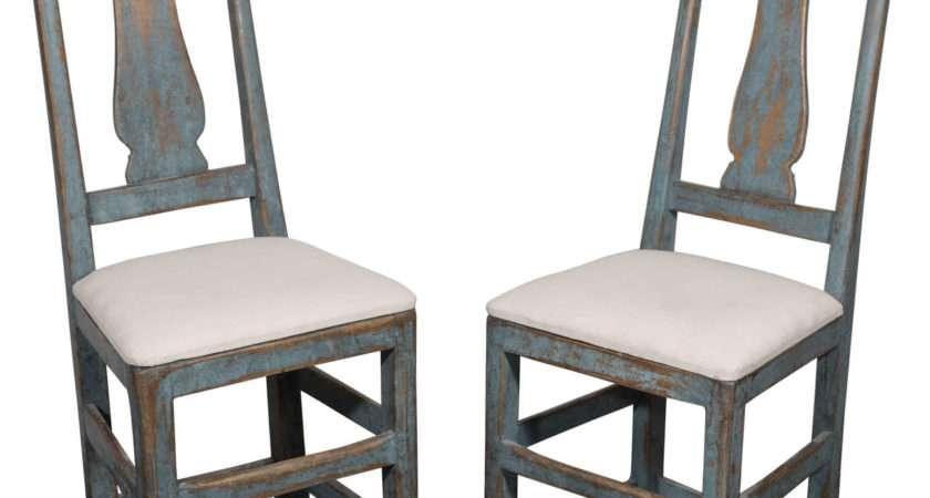 Quirky Pair Swedish Side Chairs Stdibs