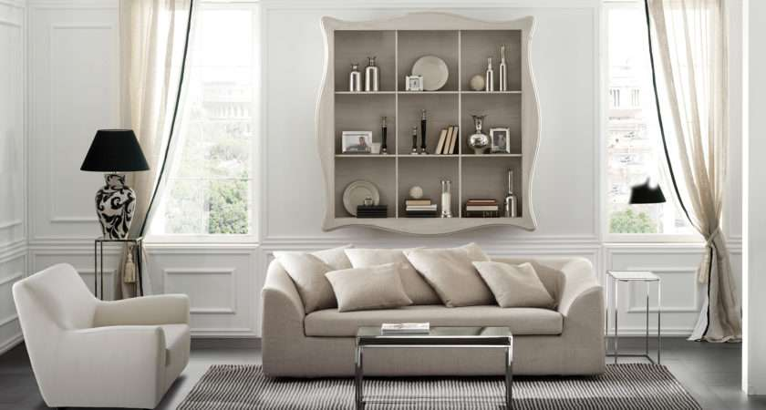 Raffaello Wall Shelving Unit Living Room Furniture Cantori