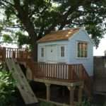 Raised Garden Playhouse Surrounding Decking Area