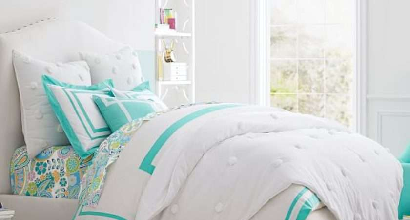 Raleigh Camelback Upholstered Bed Pbteen
