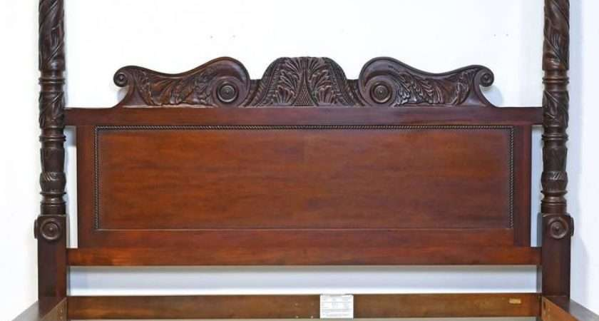 Ralph Lauren Carved Four Poster King Bed Solid