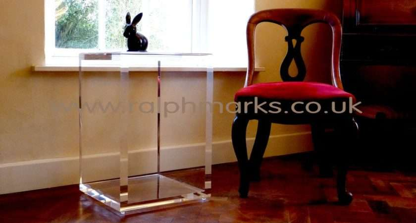 Ralph Marks Perspex Acrylic Furniture Side