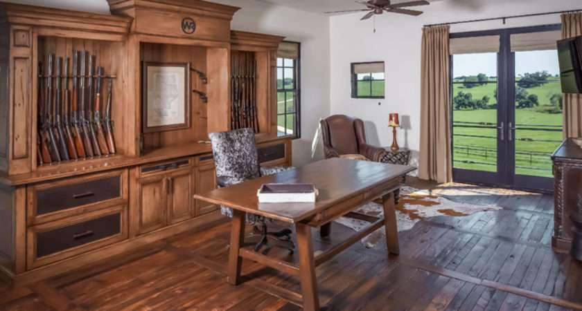 Ranch Rustic Home Office Houston Thompson