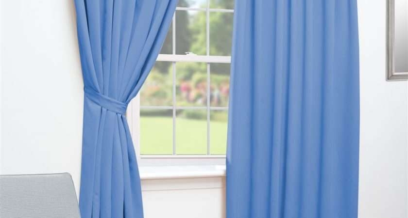 Ready Made Curtains Blue Thermal Blackout