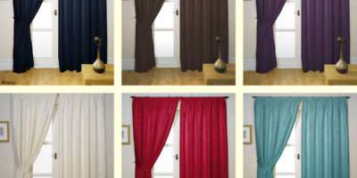 Ready Made Tape Top Fully Lined Curtains All Sizes Range Colours