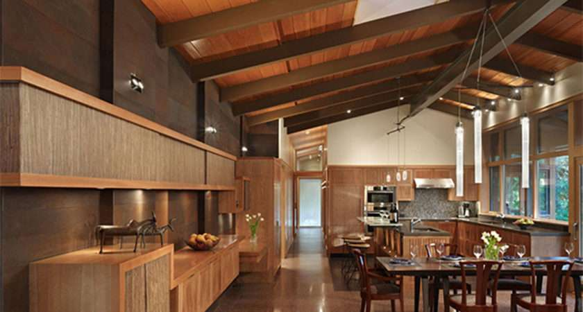 Real Wood House Forest Environment Interior